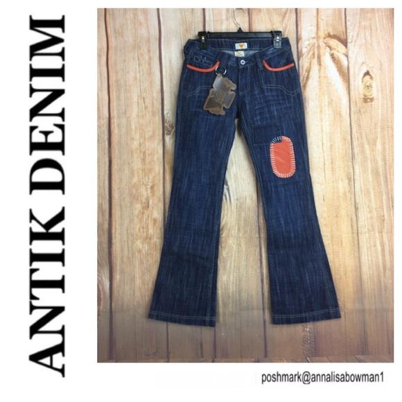 Antik Denim Denim - 💙Antik Denim distress w/leather patches size 27